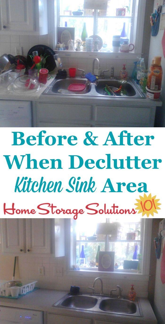 How To Declutter Your Kitchen Sink Area   Kitchen Storage ...