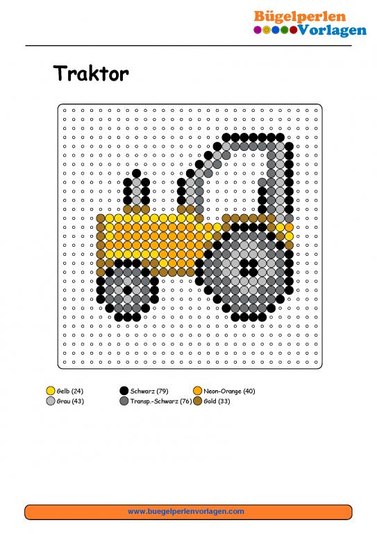 traktor b gelperlen vorlage b gelperlen pinterest perler beads beads and hama beads. Black Bedroom Furniture Sets. Home Design Ideas