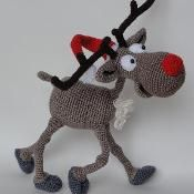 Rudolf the Reindeer Amigurumi Pattern - via @Craftsy