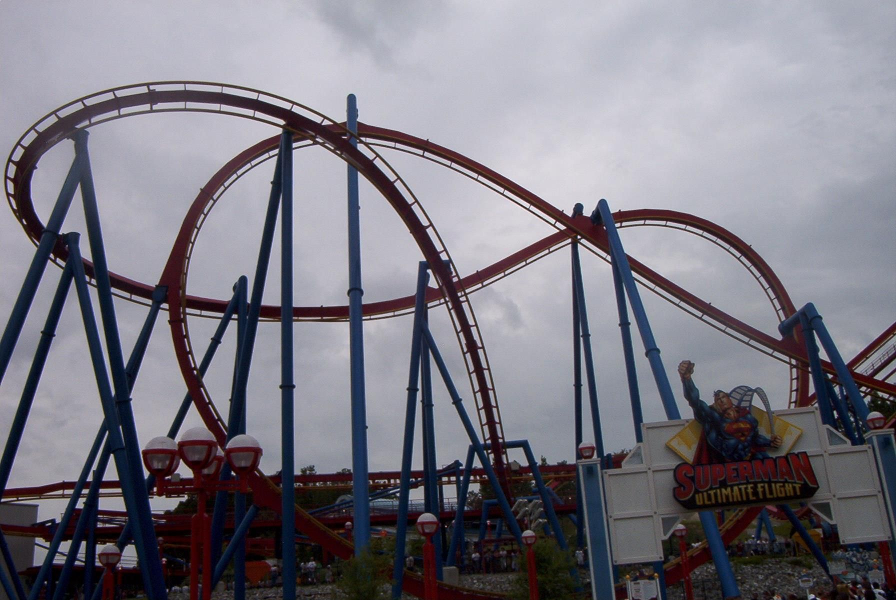 Superman Escape From Krypton 100 Miles Per Hour Six Flags Magic Mountain Park California
