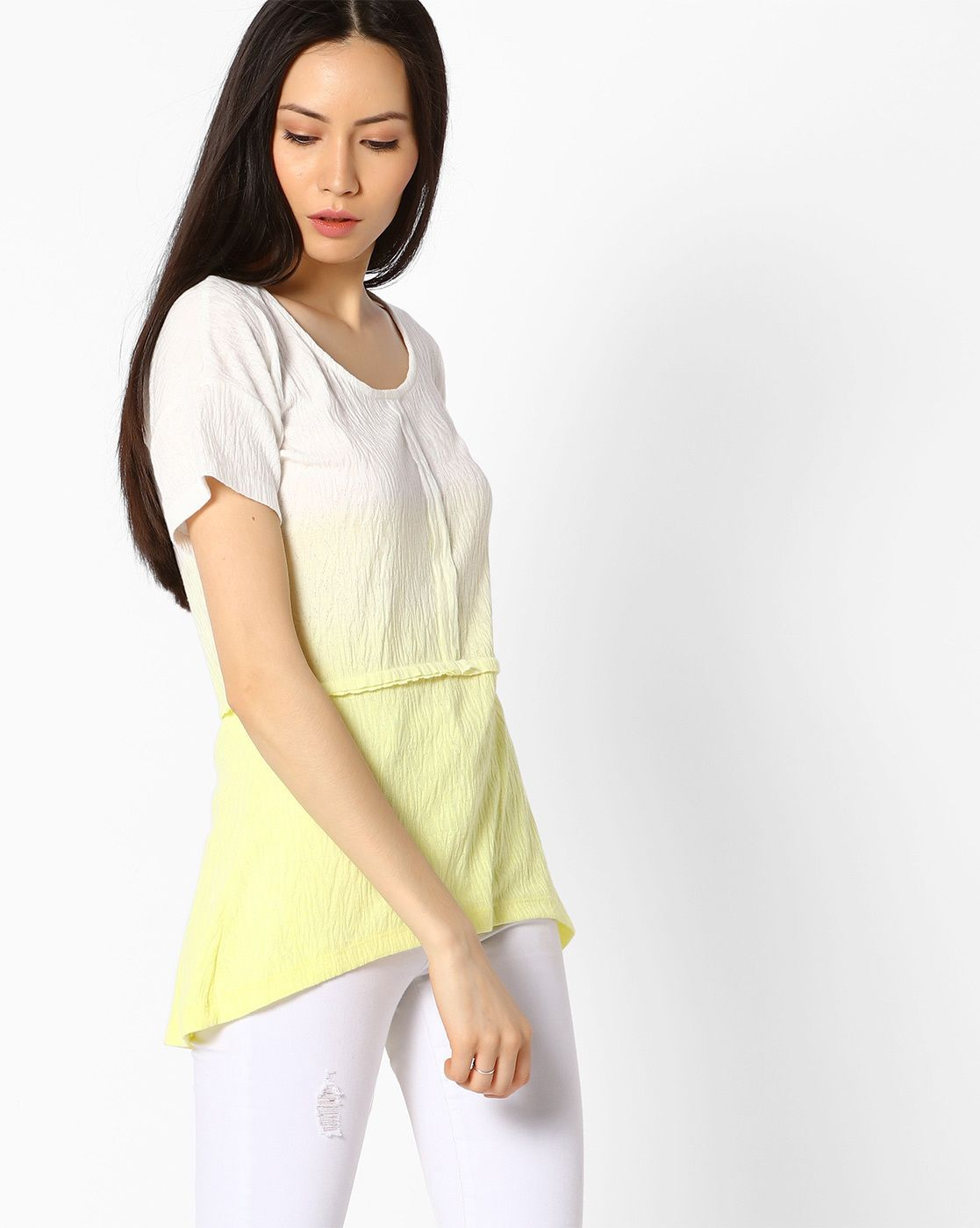 3e2adcd38c412 Shop latest Cotton & Silk tops for women. Styles - Party wear, cotton long