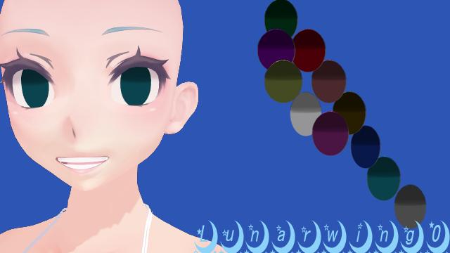 Mmd Yandere Simulator Eye Texture Insane By Lunarwing0 Mmd