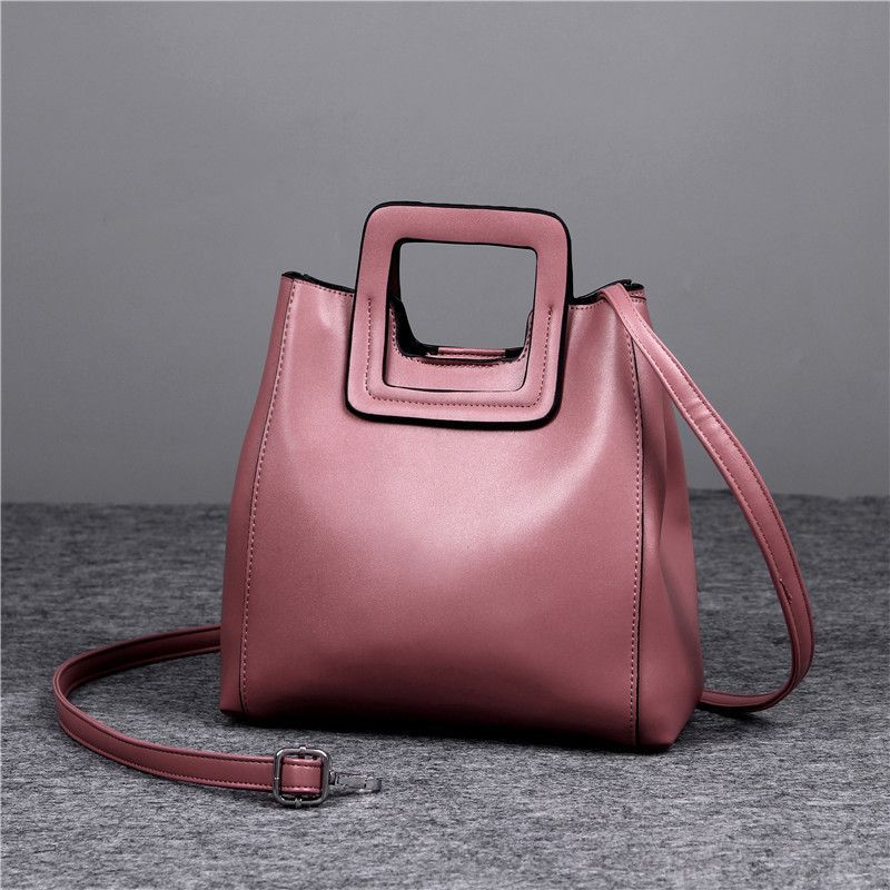 Europe Simple Genuine Leather Handbag High Quality Solid Autumn Winter Brand Bag Shoulder Wild
