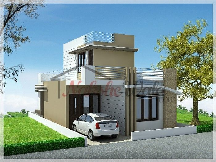 Front Elevation Of Building Part - 49: Single Store Building Elevation