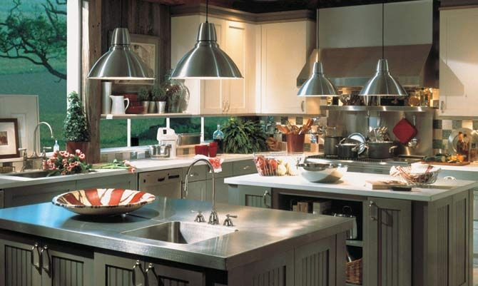 I Love The Idea Of Stainless Steel Counter Tops! They Would Never Lose  Their Beauty