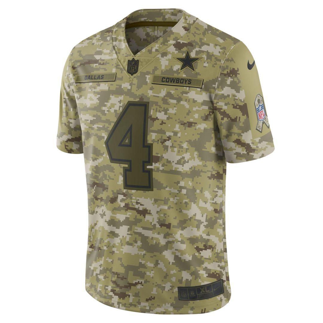 huge discount c7f35 31a09 NFL Dallas Cowboys Salute to Service (Dak Prescott) Big Kids ...