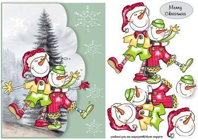 fun snowfolk on Craftsuprint - Add To Basket!
