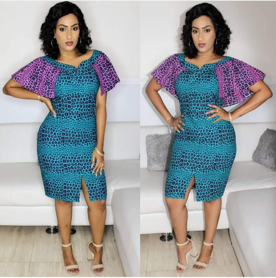 Robe A Manches Volantes African Print Dress Ankara African Print Dresses African Dresses For Women