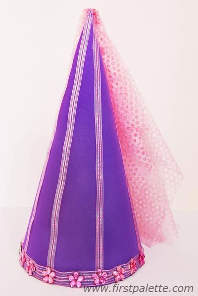princess cone hat template - princess hats for attendance taker ladies color