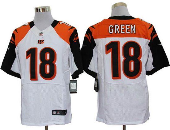 9f3e26297 Nike Cincinnati Bengals 18 A.J. Green White Elite Jersey Nike Bengals 18  A.J. Green White Mens NFL Elite Jersey ...