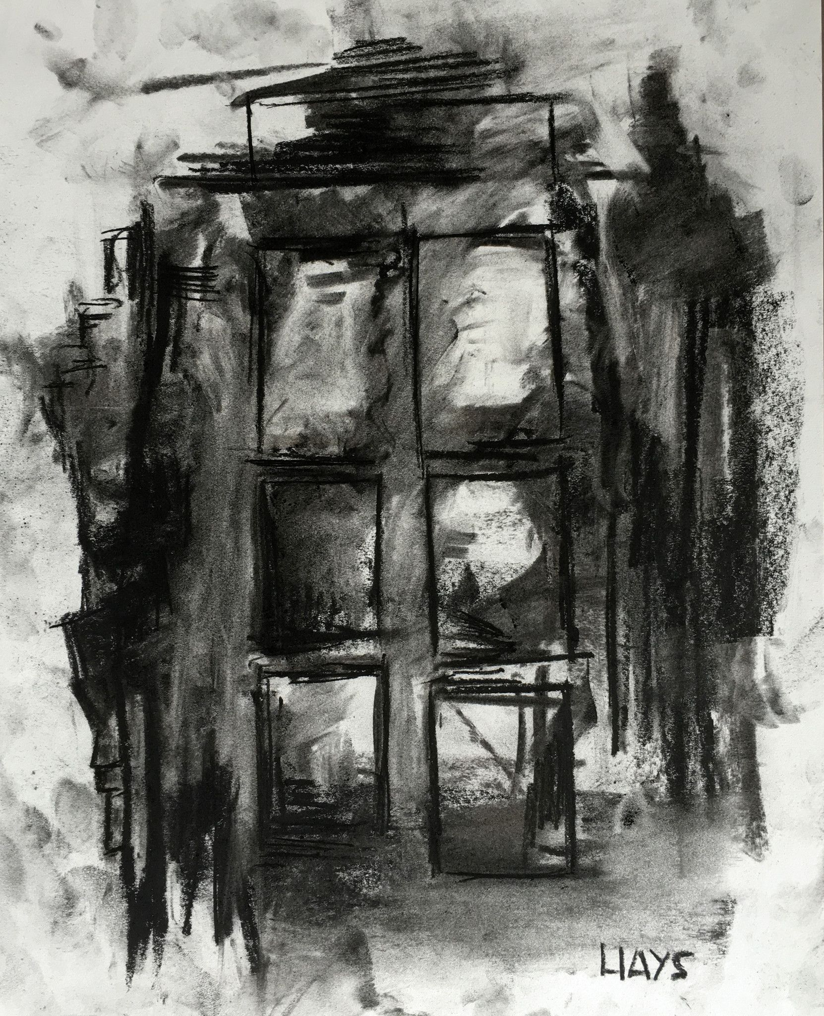 charcoal on paper 14 x 11 inches frame 22 x 18 inches this is one drawing in a series of four. Black Bedroom Furniture Sets. Home Design Ideas
