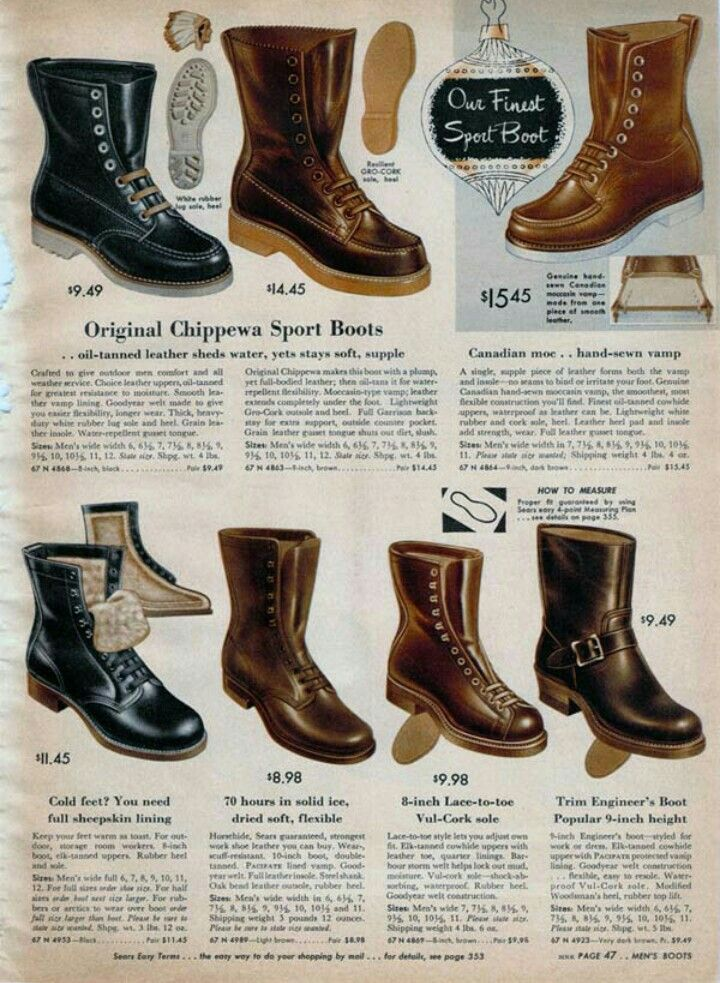 1950s mens boots advertising