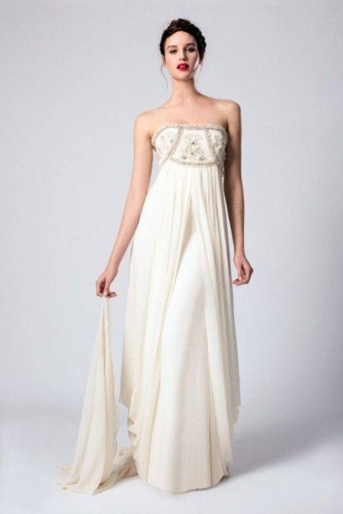 7b61bf04928 25 Airy And Romantic Empire Waist Wedding Dresses