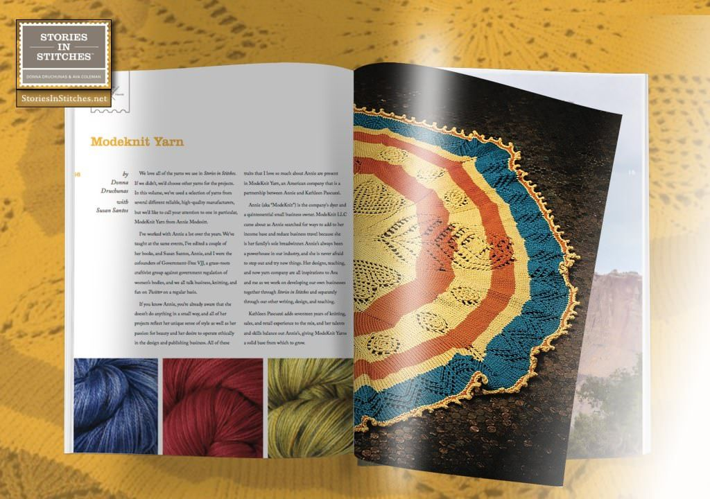 Have you looked inside Stories In Stitches 4 yet? It's all about the spiritual act of knitting.
