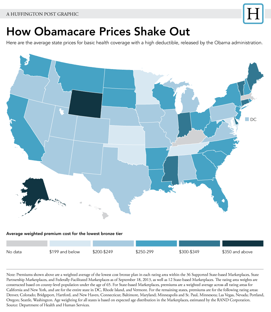 Look How Much Would Obamacare Coverage Cost Where You Live