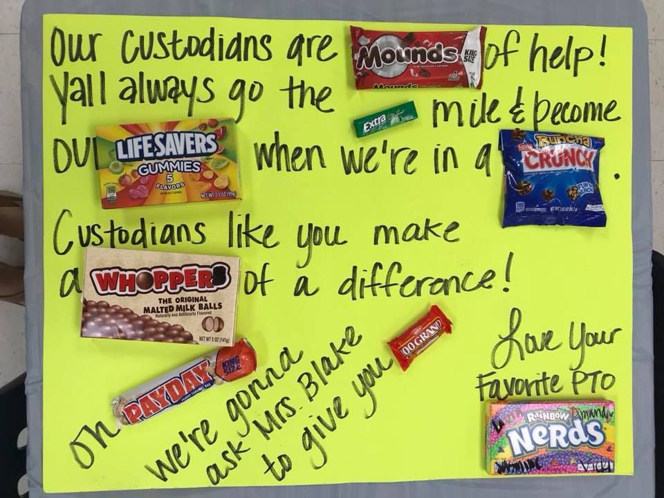 Great idea for Custodians #custodianappreciationgifts