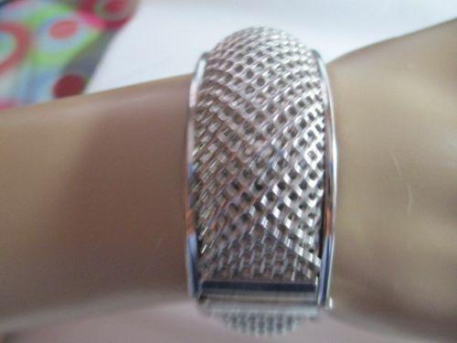 $9.50 #BRACELET AUCTIONS ENDING 3 HOURS! Vintage Sarah Coventry Mesh Bracelet Wide Hard | eBay