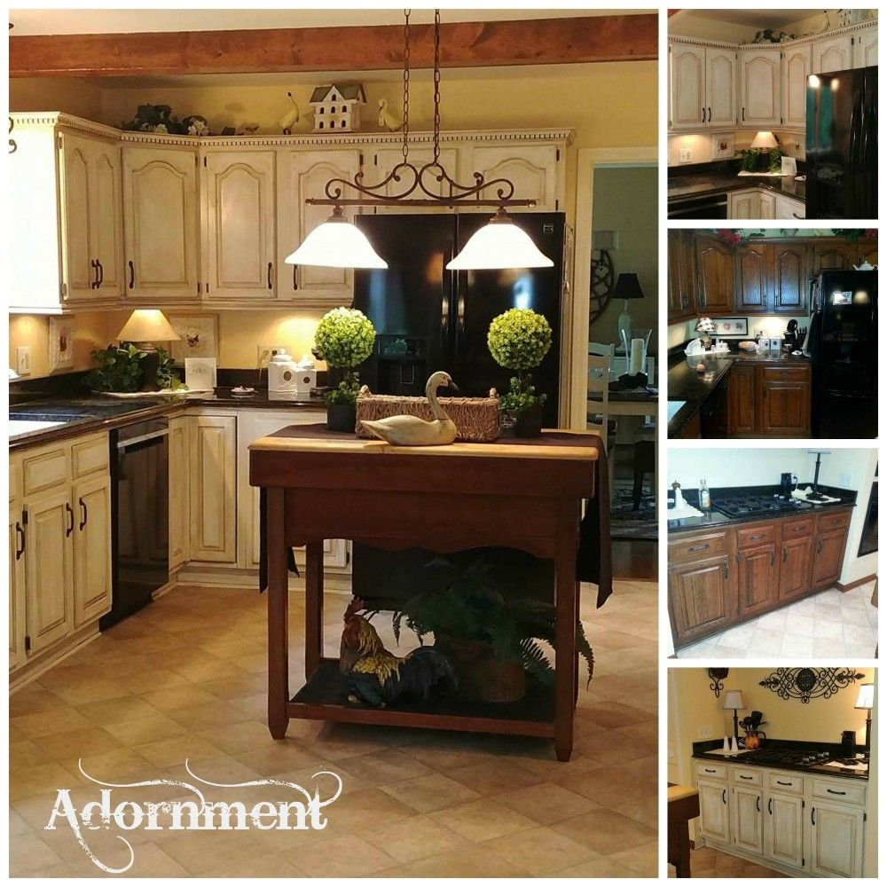 Before Dark Oak After Custom Painted And Glazed By Adornment Of Buffalo Ny Kitchen Cupboards Paint Painting Oak Cabinets Favorite Kitchen Colors