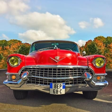 'Front View of Vintage 50's Car in America' Photographic Print - Salvatore Elia | Art.com