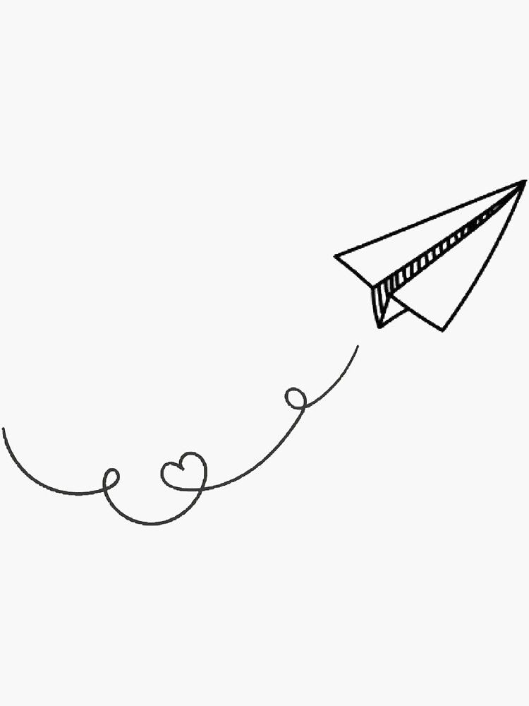 Paper Airplanes Sticker By Nataliegisselle In 2021 Paper Airplane Tattoos Paper Plane Tattoo Paper Airplane Drawing