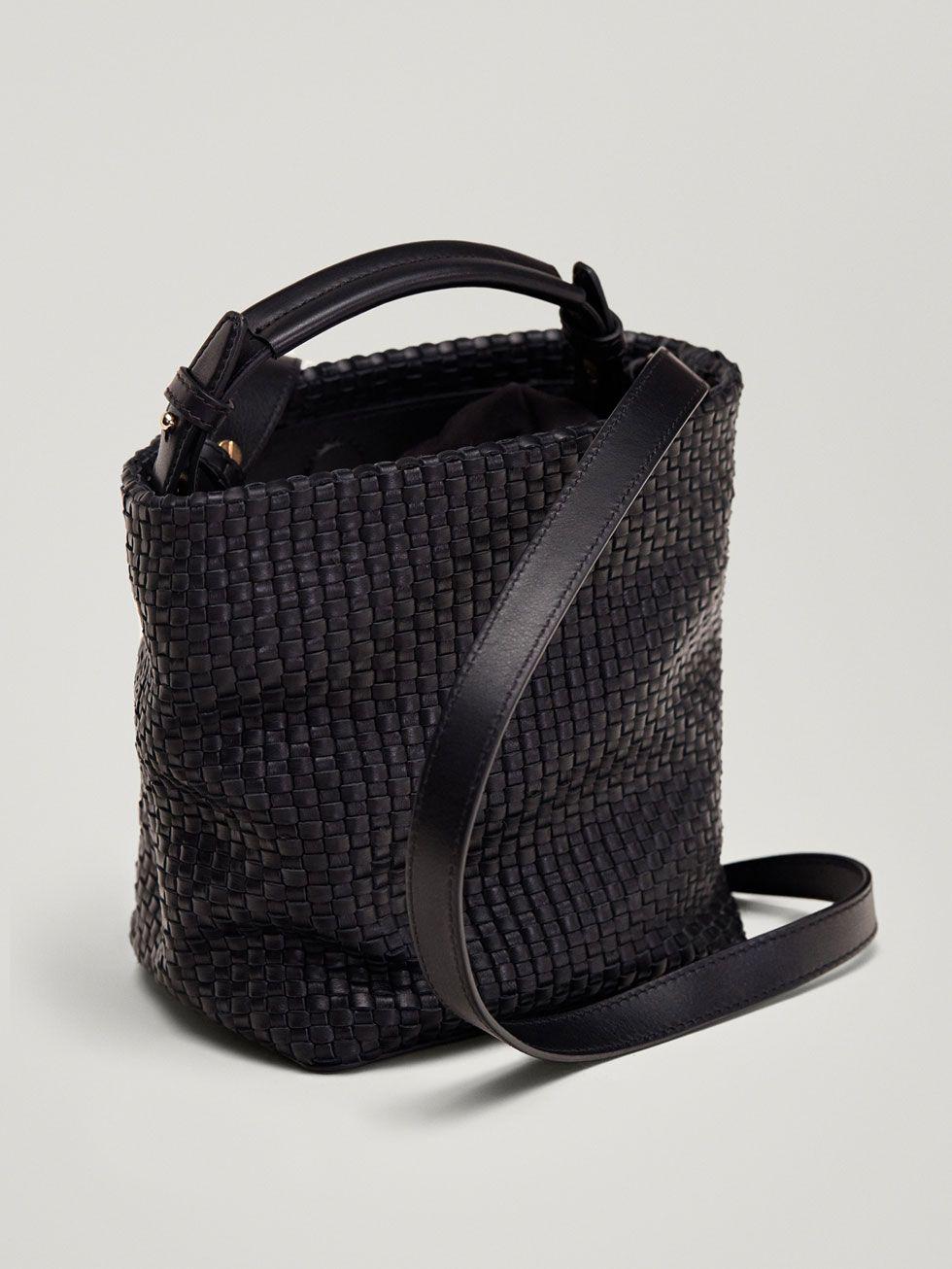 BRAIDED LEATHER CROSSBODY BAG - Women - Massimo Dutti  335f764216e12