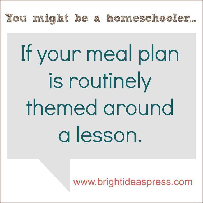 You might be a homeschooler if... Christian homeschool