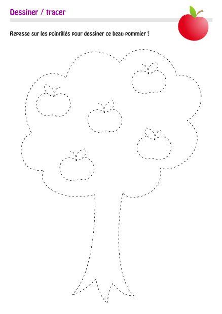 Coloriage Arbre Pommier.Dessiner Arbre Dessiner Pommier Dessiner Formes Et Motifs