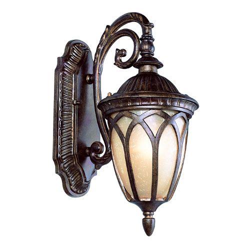 Low Voltage Outdoor Sconce Lighting: Bronze Two-Light 20-Inch Outdoor Acorn Wall Mount