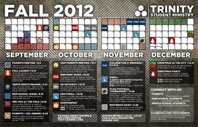 Free Youth Group Calendar Template Fall 2013 Work