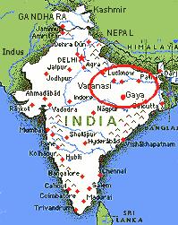 Gaya india map