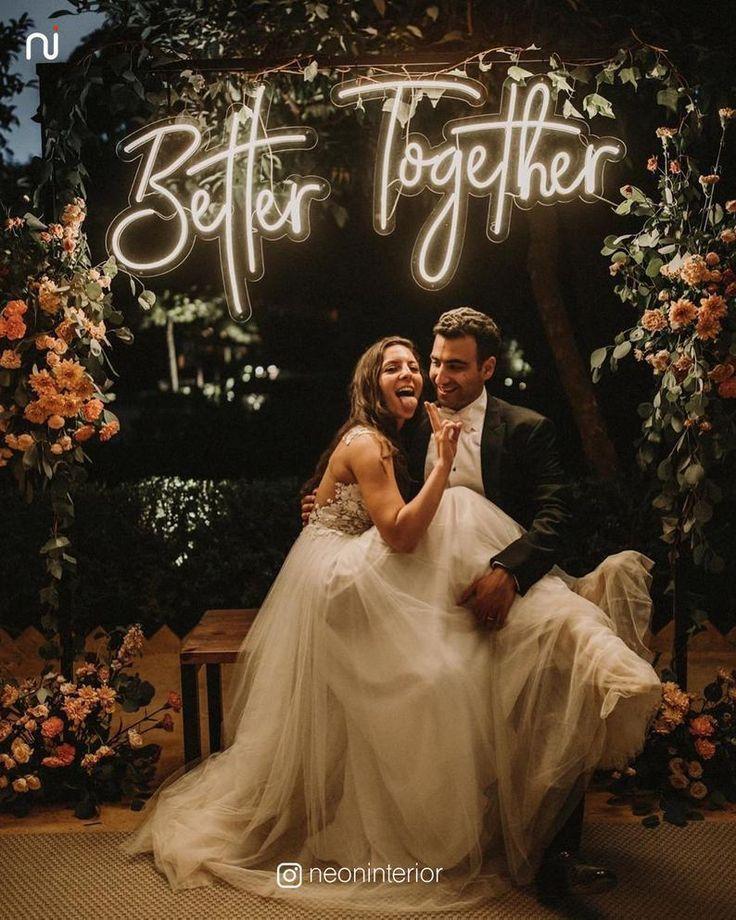 Customize Wedding Neon Sign | LED Neon Sign, Custo