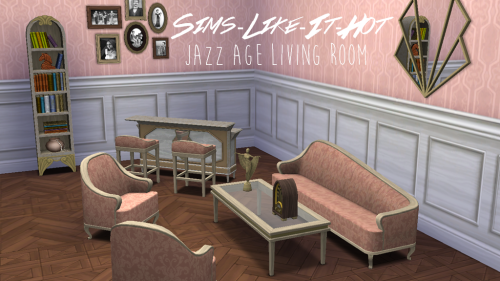Jazz Age Living Room Set Converted From The Sims 3 Store For 4
