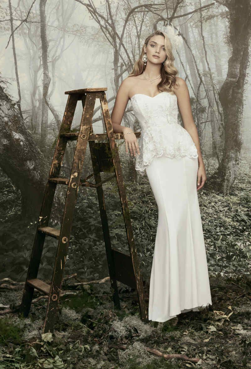 21fe948b102b Peplum Wedding Dress, Vintage Wedding Dress | Winter Wonder Wood: The  Wedding Boutique by LE CHATEAU