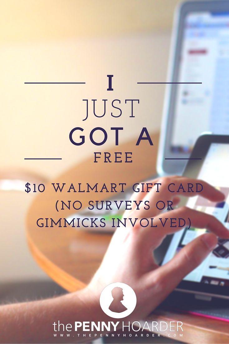 I just got a free 10 walmart gift card no surveys or