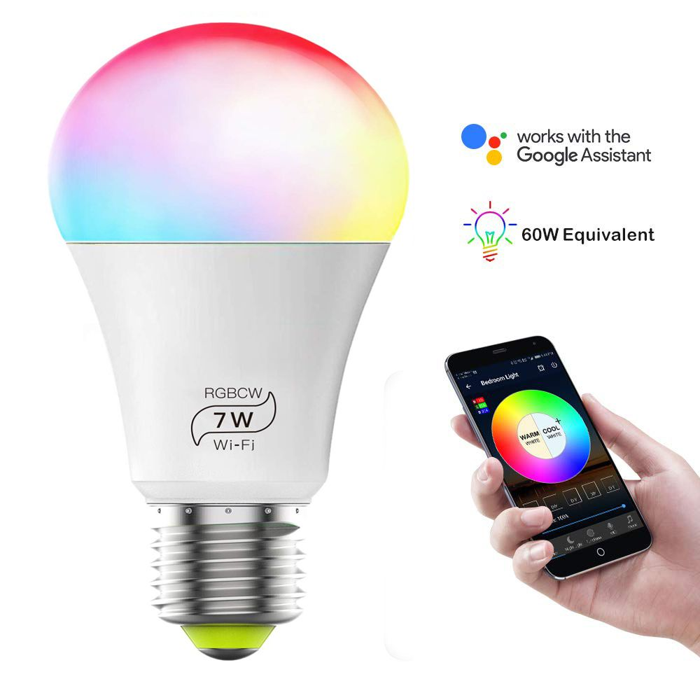 Smart Wifi Led Light Bulbs Compatible With Alexa And Google Home Siri Ifttt Color Changing Light Bulbs Dimmable With App A19 E26 60 Watt Equivalent No H In 2020 Color