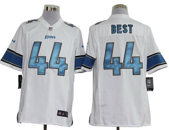 Nike Lions  44 Jahvid Best White Mens NFL Game Jersey And  Marcus Peters  jersey f82196fac