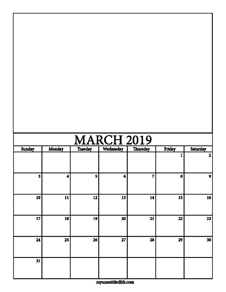2019 decorate your own calendar free printable Stationery
