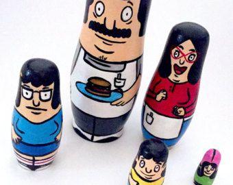 Bob's Burgers Hand Painted Russian Nesting Dolls