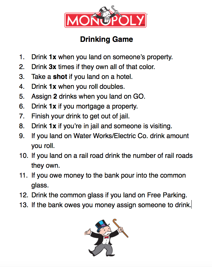 Quarters drinking game funny rules for dating