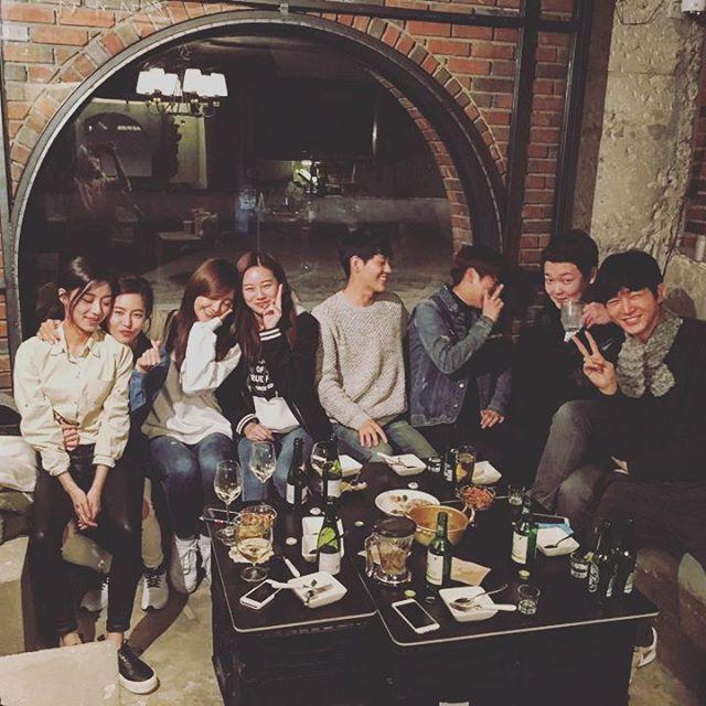 sassy go go reunion: kang minah, jung  hae na, jung eun ji, park yoona, shin jae ha, halo´s 0oon, kim minho and lee woon gun