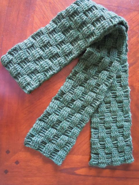 Men S Crochet And Basketweave Scarf Scarves Wraps Basket Weave