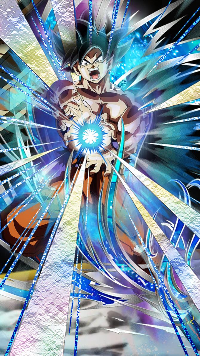 Ultra Instinct Omen Goku Mobile Wallpaper Dokkan Battle Style 1080p 1080x1920 Recommended For Anime Dragon Ball Super Dragon Ball Super Goku Goku Wallpaper