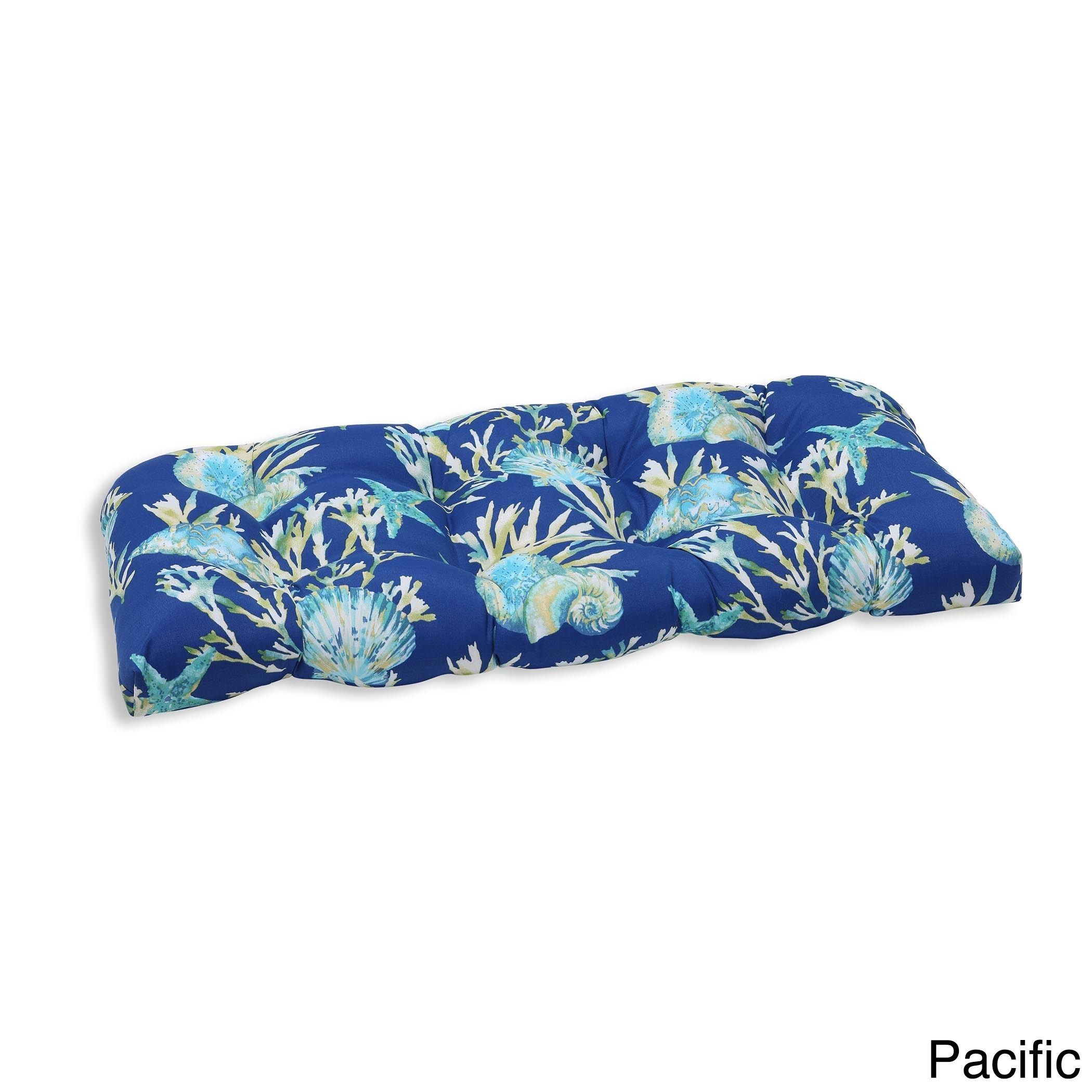 Pillow perfect outdoor indoor daytrip wicker loveseat cushion