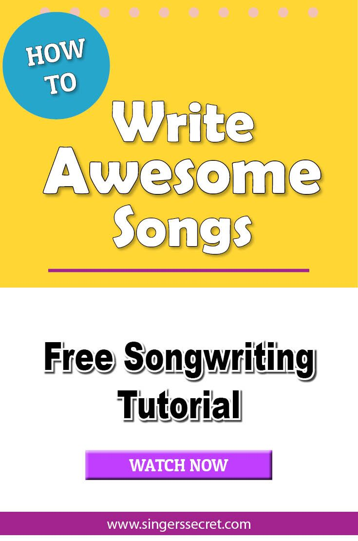 Learn how to write awesome songs with this free songwriting class. http://singerssecret.com/songwriting-gift