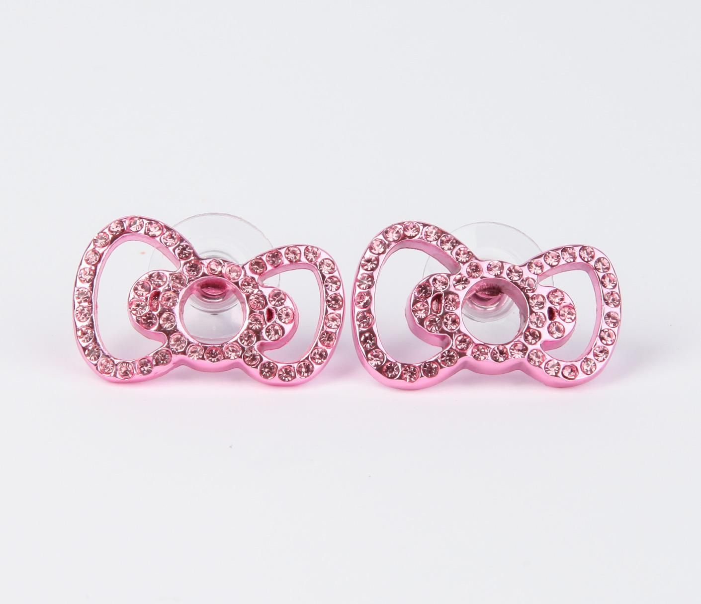 Hello Kitty Earrings | Hello Kitty Ribbon Stud Earrings: Pink ...