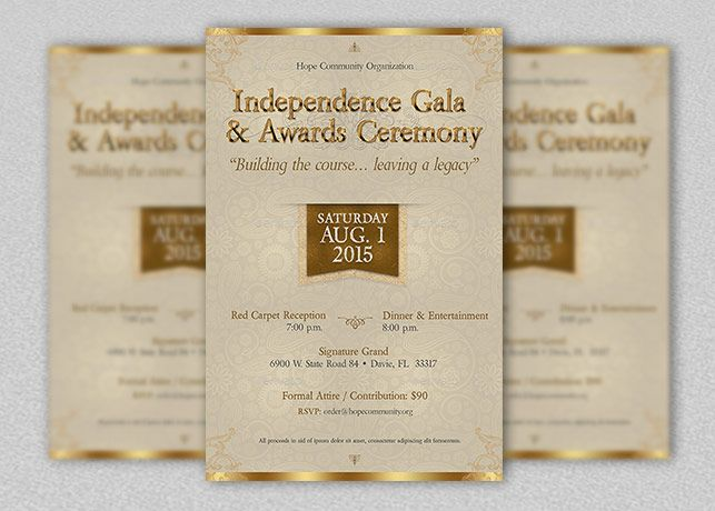 Independence Gala Flyer Template Church Print Templates - ball ticket template