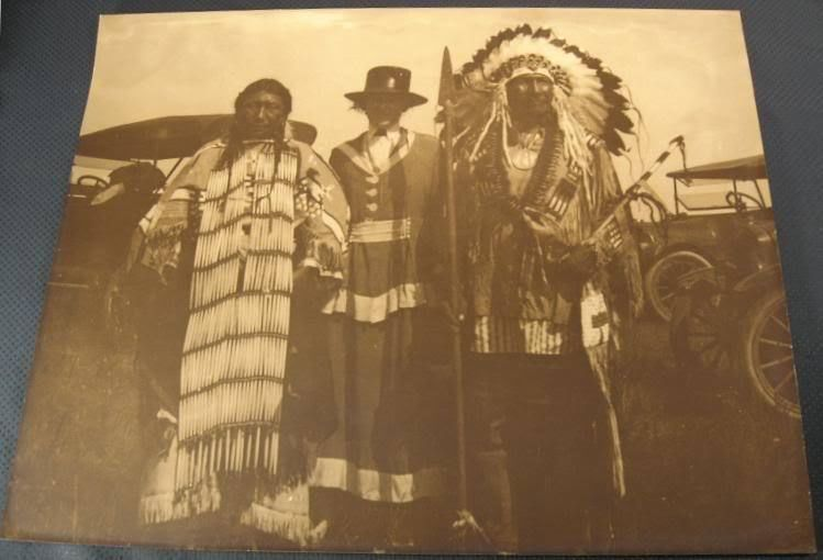 "1919 Harmon Percy Marble Native American Indian Sioux Chief Horse Photo 20""x16"""