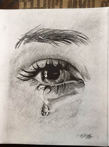 art Drawings Face Project For Kids is part of Drawing Archives  C B Art Projects For Kids - Drawing Eyes Crying Pencil Art 29+ Ideas