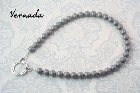Vernada Design -puuhelmikaulakoru, hopea. #Vernada #jewelry #necklace #suomestakäsin #finnishdesign #avainkoru #kulkukorttikoru #avainnauha