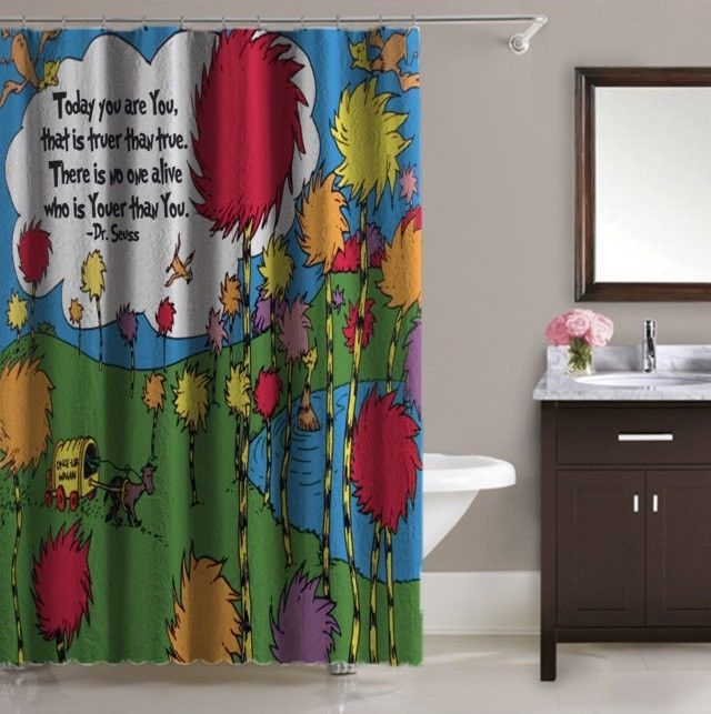 The Lorax Dr Seuss Quote Truffula Trees Shower Curtain 60x72 Print On Unbranded Modern